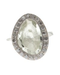 Rosa Maria | Metallic Chunky Silver Tourmaline Ring | Lyst