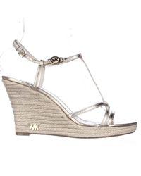 Michael Kors Kami T Strap T Strap Espadrille Wedge Sandals