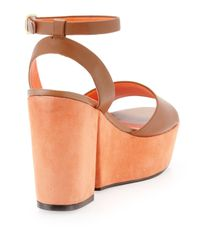 Kelsi Dagger Brooklyn - Brown Tani Twotone Platform Sandal - Lyst
