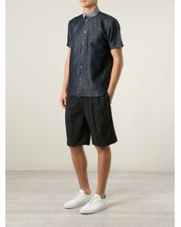 N°21 - Blue Checked Collar Shirt for Men - Lyst