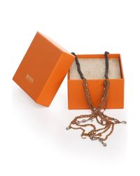 BOSS Orange - Metallic Intricate Necklace: 'marcury' - Lyst