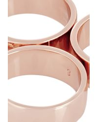 Eddie Borgo - Pink Rose Gold-plated Five-finger Ring - Lyst