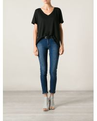 J Brand - Black V-Neck T-Shirt - Lyst