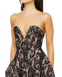 AKIRA - Soy I'm Latte Lace Dress - Black/nude - Lyst