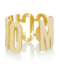 Moschino - Metallic + V&A Gold-Plated Cuff - Lyst