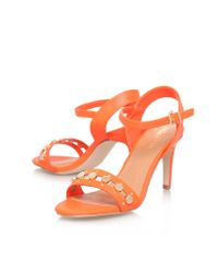 Miss Kg | Orange Erica High Heel Sandals | Lyst