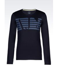 Armani Jeans | Blue Print T-shirt for Men | Lyst