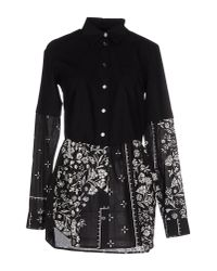 MM6 by Maison Martin Margiela - Black Short Dress - Lyst