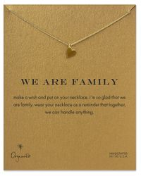 Dogeared | Metallic We Are Family Open Heart Necklace | Lyst