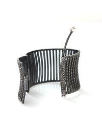 Yossi Harari - Gray Large Lilah Corset Cuff - Lyst
