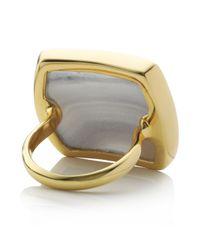 Monica Vinader - Metallic Baja Square Ring - Lyst