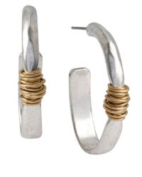 Robert Lee Morris | Metallic Two-tone Open Hoop Earrings | Lyst