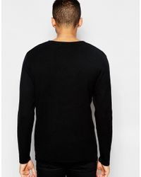 Jack & Jones - Blue Premium Textured Knitted Jumper for Men - Lyst