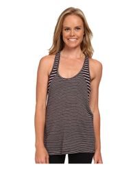 Beyond Yoga | Gray Double Racerback Tank Top | Lyst