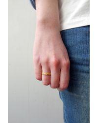 Fraser Hamilton | Metallic Hand Ring Gold | Lyst