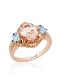 Le Vian | Multicolor Morganite, Diamond And 14k Rose Gold Ring | Lyst