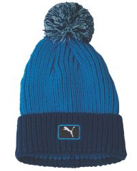PUMA | Blue Cat Patch Pom Beanie for Men | Lyst