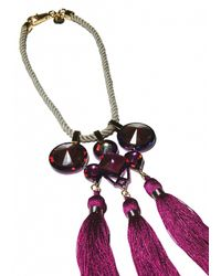 Matthew Williamson   Pink EXCLUSIVE Jeweled Crescent Necklace   Lyst