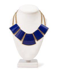Forever 21 | Blue Geo Bib Necklace | Lyst