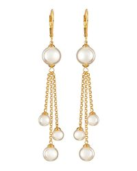 Majorica | Metallic Pearl Fringe Earrings | Lyst