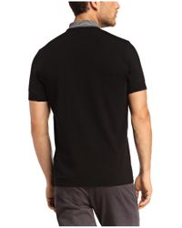 BOSS Green - Black Polo Shirt 'philix' In Cotton Blend for Men - Lyst