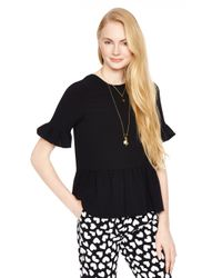 kate spade new york | Black Linda Top | Lyst