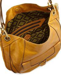 orYANY | Camilla Glazed Leather Hobo Bag Honey | Lyst
