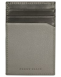 Perry Ellis | Black Pocket Magnetic-clip Wallet for Men | Lyst