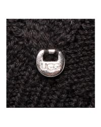 UGG - Black Isla Lurex Beanie W/fur - Lyst