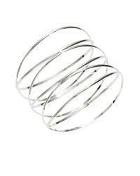 Panacea | Metallic Silvertone Wire Bangle | Lyst