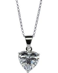 Carat* | Metallic Heart 2.5ct Solitaire Pendant Necklace | Lyst