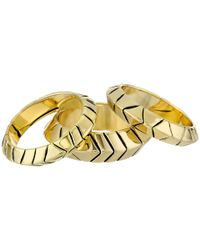 House of Harlow 1960 - Metallic Aztec Stack Rings - Lyst