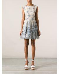 Alice + Olivia - Blue Trisha Printed Gown - Lyst