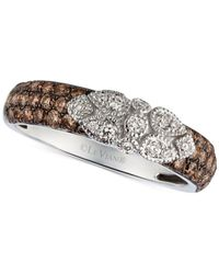Le Vian | Brown Chocolatier® Chocolate Diamond And White Diamond Floral Lace™ Ring In 14K White Gold (3/4 Ct. T.W.) | Lyst