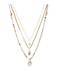 Chan Luu - Brown Layered Necklace - Lyst