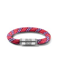 John Hardy - Station Bracelet On Multicolor Hot-Pink Sailing Cord for Men - Lyst