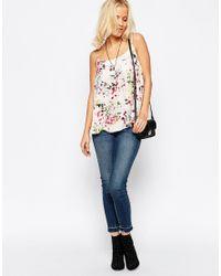 Minimum - Floral Vest Top - 004 Broken White - Lyst
