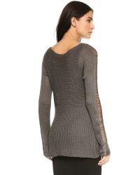 BB Dakota - Gray Berta Drop Needle Sweater - Oatmeal - Lyst