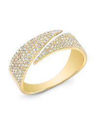 Anne Sisteron   Metallic 14kt Yellow Gold Diamond Full Spike Wrap Ring   Lyst