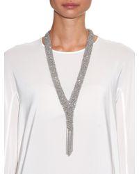 Diane von Furstenberg | Metallic Silver-plated Woven Chain Necklace | Lyst