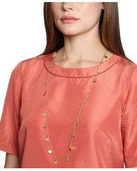 Brooks Brothers - Metallic Gold Hammered Illusion Necklace - Lyst