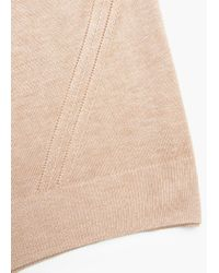 Mango | Brown Contrast Trim Sweater | Lyst