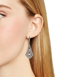 Nadri - Metallic Pavé Leverback Earrings - Lyst