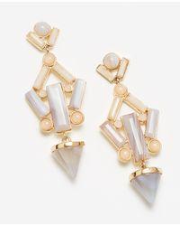 Ann Taylor - Metallic City Cone Chandelier Earrings - Lyst