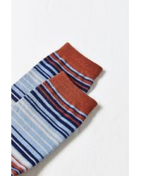 Urban Outfitters - Blue Multicolor Thin Stripe Sock for Men - Lyst