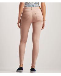 Aéropostale | Pink Seriously Stretchy Ankle Length High-waisted Jegging | Lyst