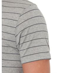 Sunspel | Gray Dotted-Stripe Jersey T-Shirt for Men | Lyst