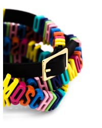Moschino | Black Logo Plaque Bracelet | Lyst