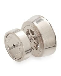 Michael Kors - Metallic Silver Tone Crystal Stud Earrings - Lyst