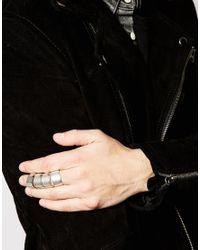 ASOS - Metallic Hinged Ring for Men - Lyst